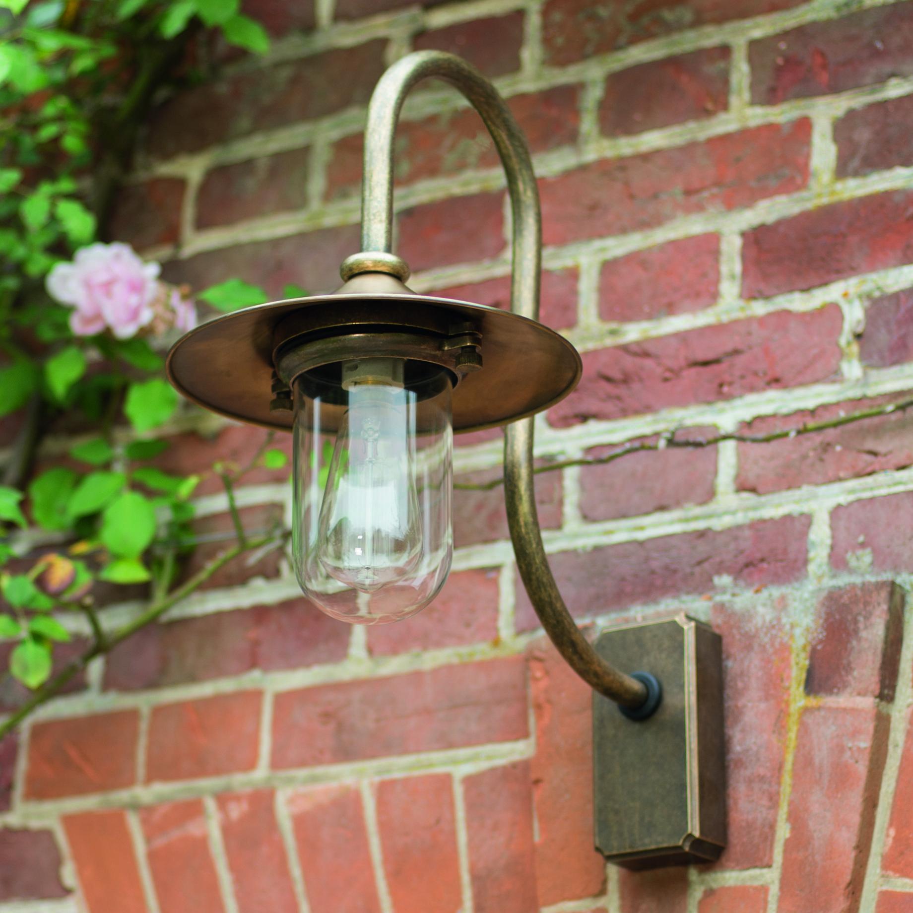 handmade outdoor lighting. a striking outdoor light handmade in solid brass our granary wall lighting