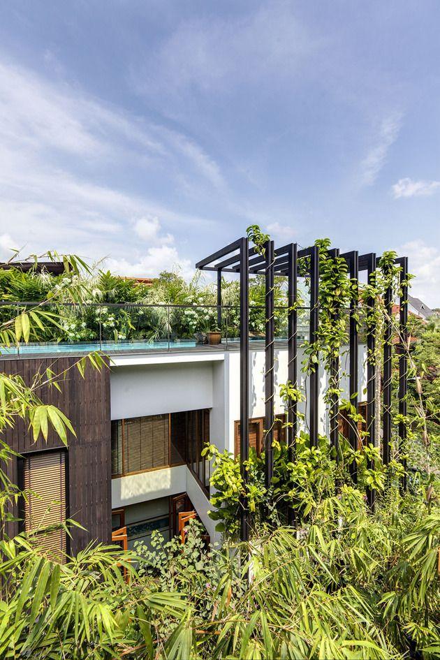 Lush Gardens and Peekaboo Roof Pool define Contemporary Home | โปรเจ ...