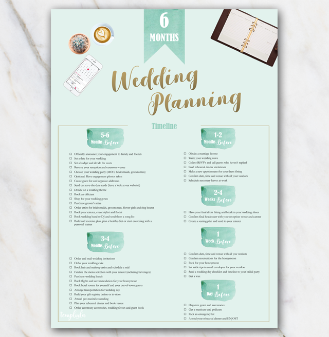 Wedding Planning Checklist Printable Pdf And Excel  Wedding