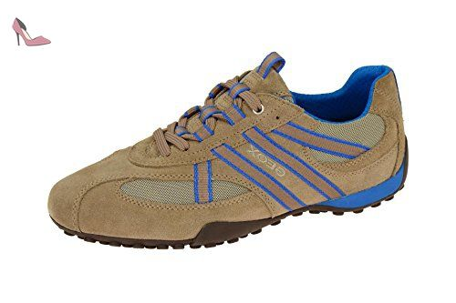 Geox U Happy Art.P, Sneakers Basses Homme, Bleu (Blue/Greyc0024), 39 EU