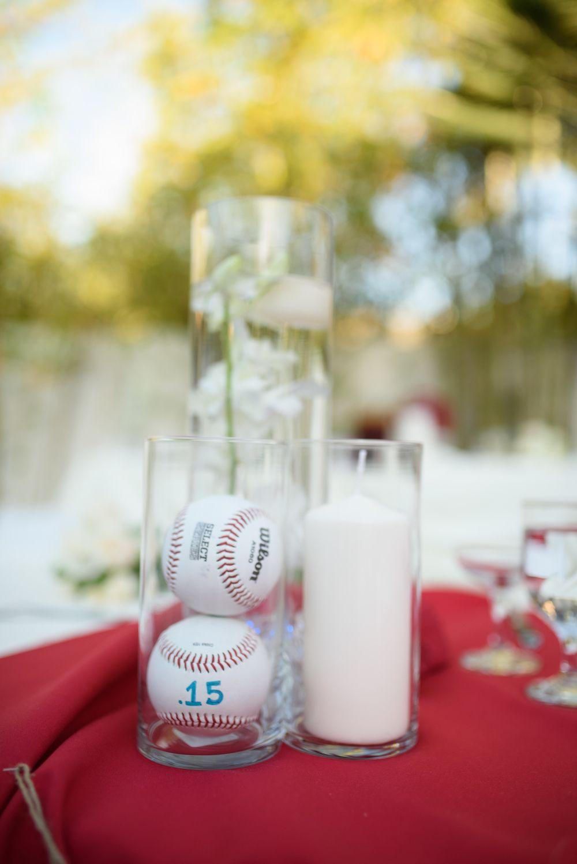 Centerpieces For A Baseball Themed Wedding
