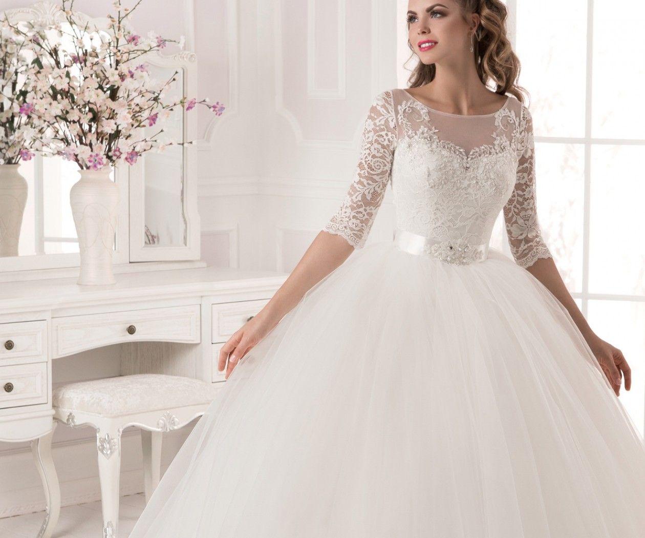 cool Выбираем элегантные пышные свадебные платья (50 фото ...