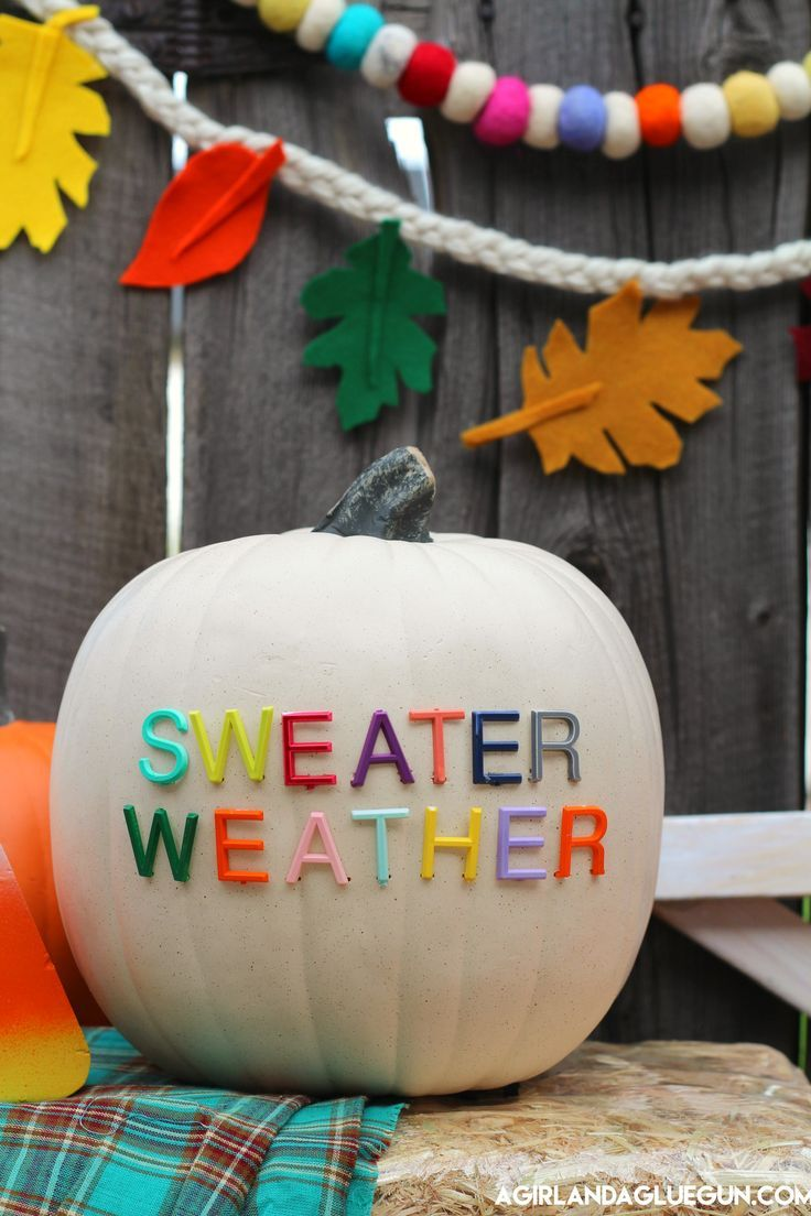 Letterboard Pumpkins and fall decorating ideas Fall garland