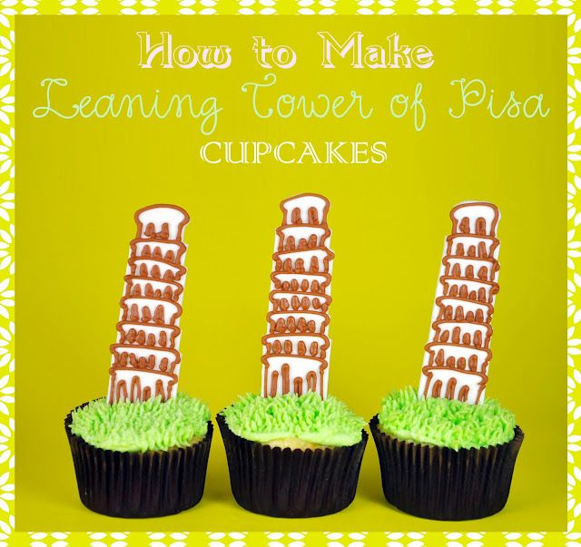 How To Make Leaning Tower Of Pisa Cupcakes Cupcakes Baking