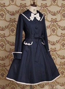 Attractive Lapeled Long Sleeved Classic Lolita Dress