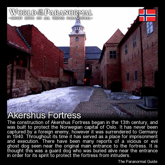 Akershus Fortress (Akershus Festning)   - Oslo, Norway   - 'World of the Paranormal' are short bite sized posts covering paranormal locations, events, personalities and objects from all across the globe.   Follow The Paranormal Guide at: www.theparanormalguide.com/blog
