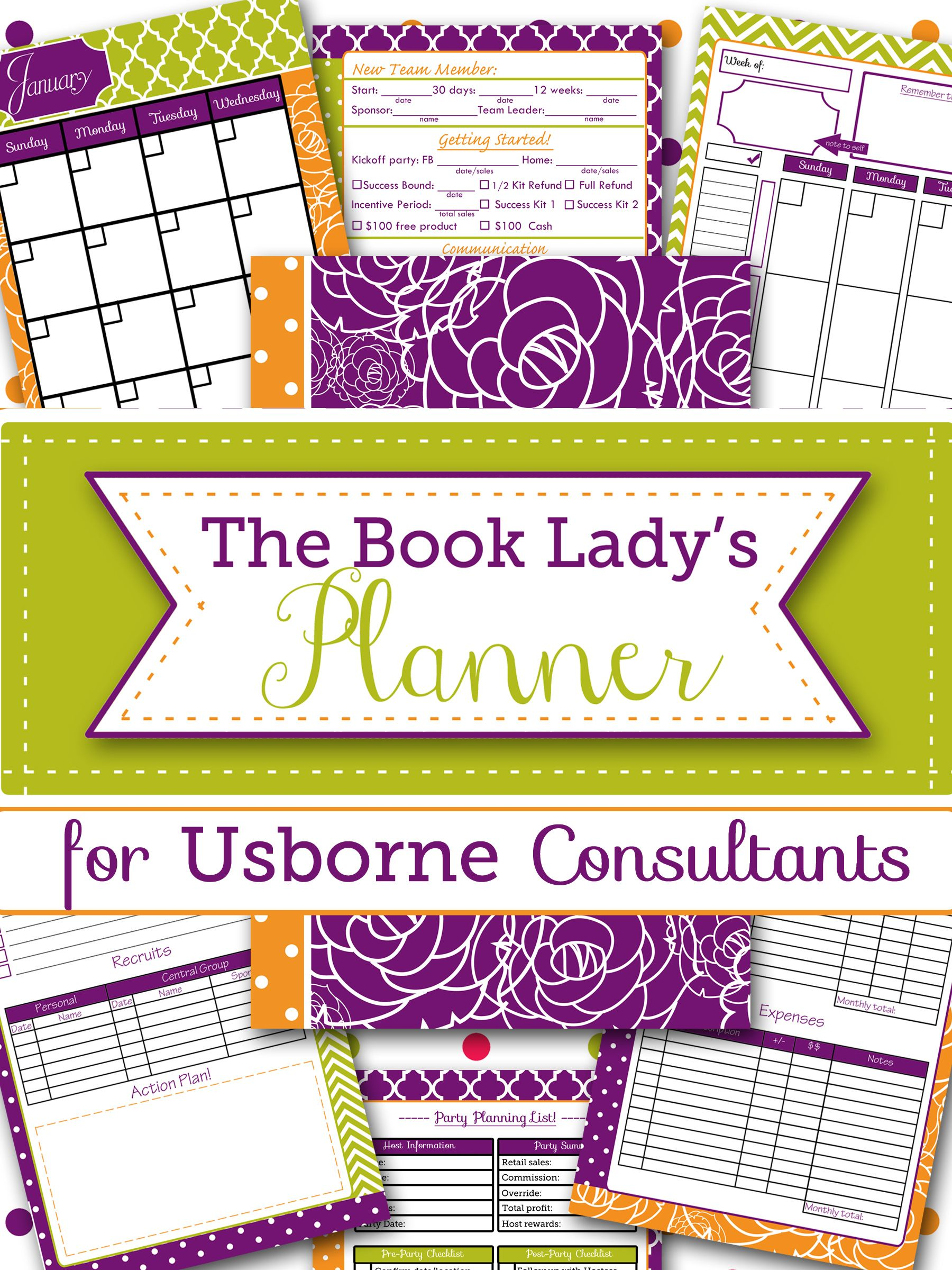 The Book Lady Planner An Organizing Help For Usborne Consultants Usborne Consultant Usborne Books Usborne