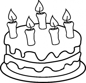 Birthday Cake Coloring Page Ainsley S Birthday Coloring Pages