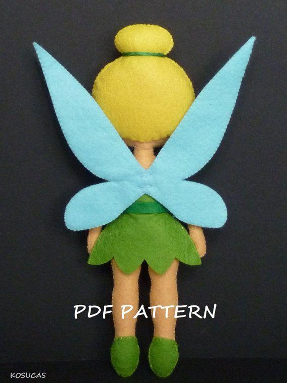 PDF sewing patern to make a felt Fairy   Filz, Fimo und Nähen für kinder
