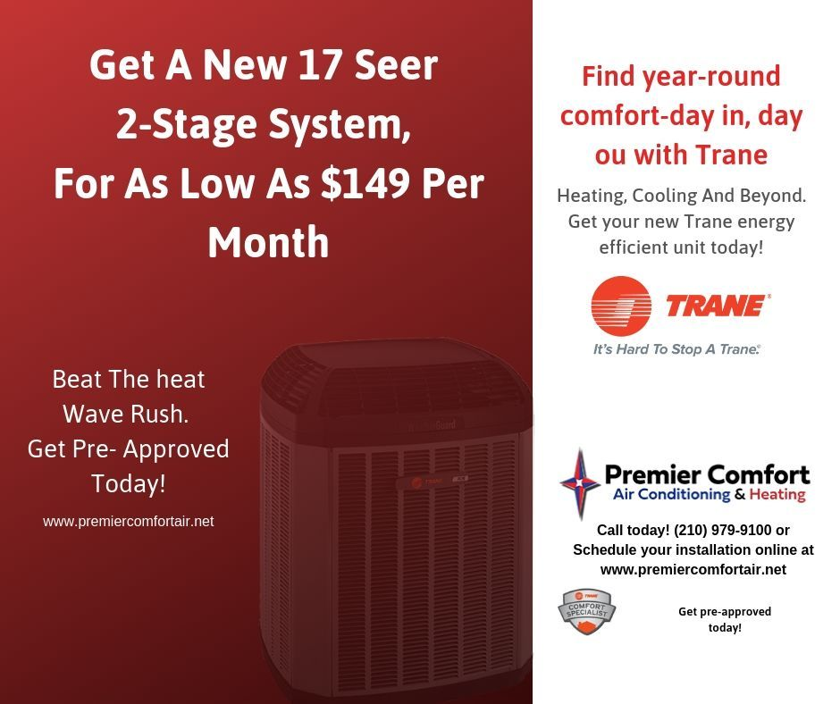 Get A New Trane 17 Seer 2 Stage System For As Low As 149 Per