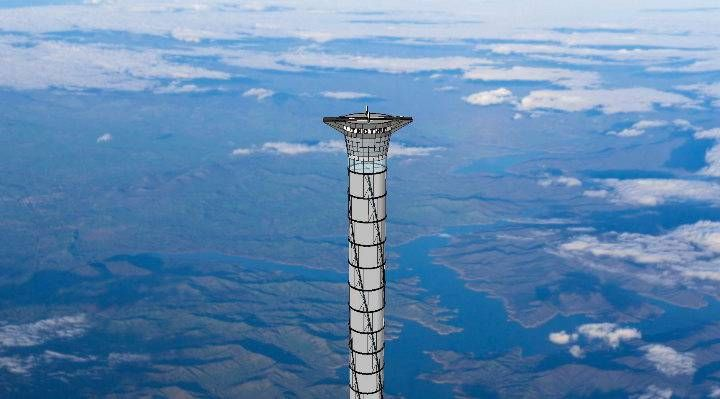 A Canadian company has been granted a U.S patent to build a freestanding tower, reaching 20km above planet earth.