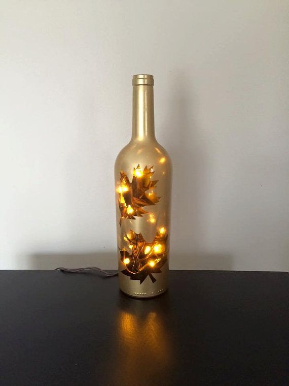 Wine Bottle Decorations Thanksgiving Lighted Wine Bottle Lamps  Thanksgiving Wikii