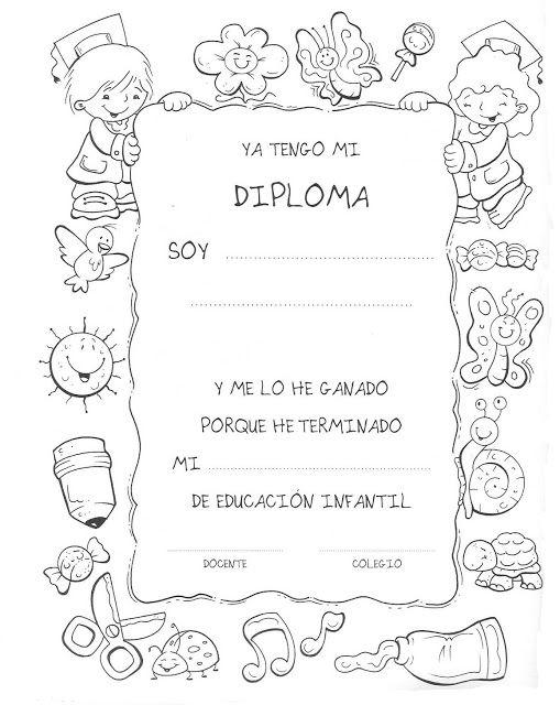 Diplomas Fin de Curso | Diplomas, Aula y Infantiles