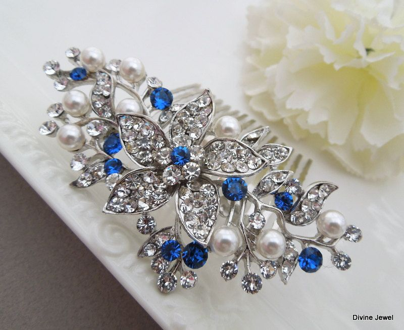 11 beautiful ideas for something blue hair clip chwv
