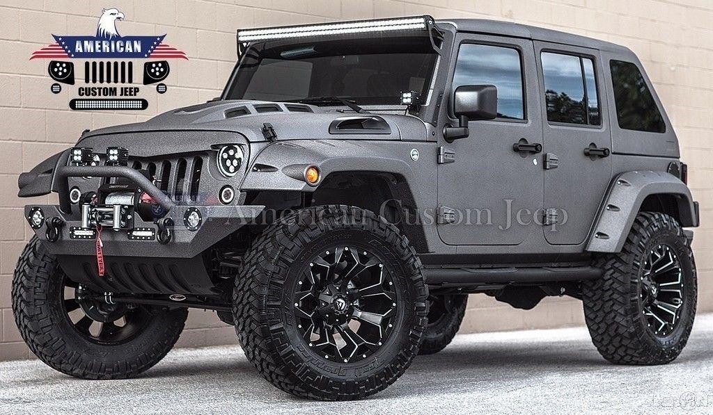 Great 2017 Jeep Wrangler Custom Unlimited Sport Utility 4 Door 2017