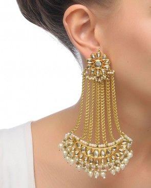 1840c1bdcbc3f Chandbali Jhumar Earrings | Bridal Jewellery in 2019 | Earrings ...