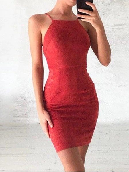 Cheap Lace Tight Red Short Tight Homecoming Dresses 2018, CM432 #lacehomecomingdresses