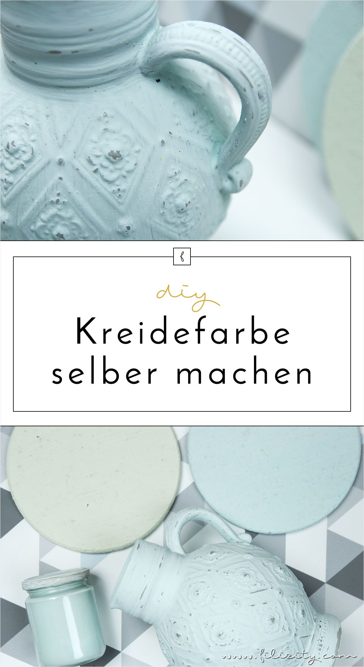 Kreidefarbe selber machen  Rezept, DIY Anleitung & Infos is part of Shabby chic diy, Shabby chic dresser, Shabby chic decor, Shabby chic room, Shabby chic style, Shabby chic furniture -  Vintage Look  Einfaches Rezept, DIYAnleitung & Infos