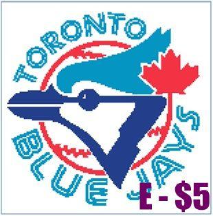 EASY PATTERNS: Toronto Blue Jays cross-stitch pattern