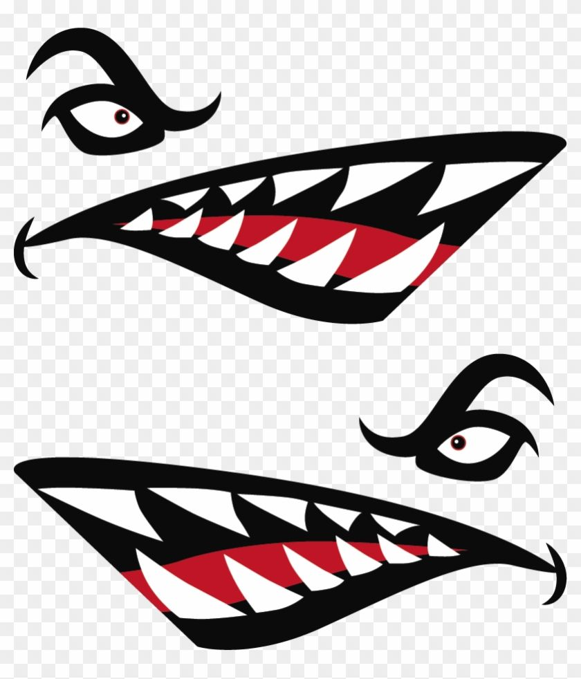 Find Hd Shark Teeth Png Kayak Shark Mouth Decal Transparent Png To Search And Download More Free Transparent Png Shark Mouth Iphone Wallpaper Anime Mouths