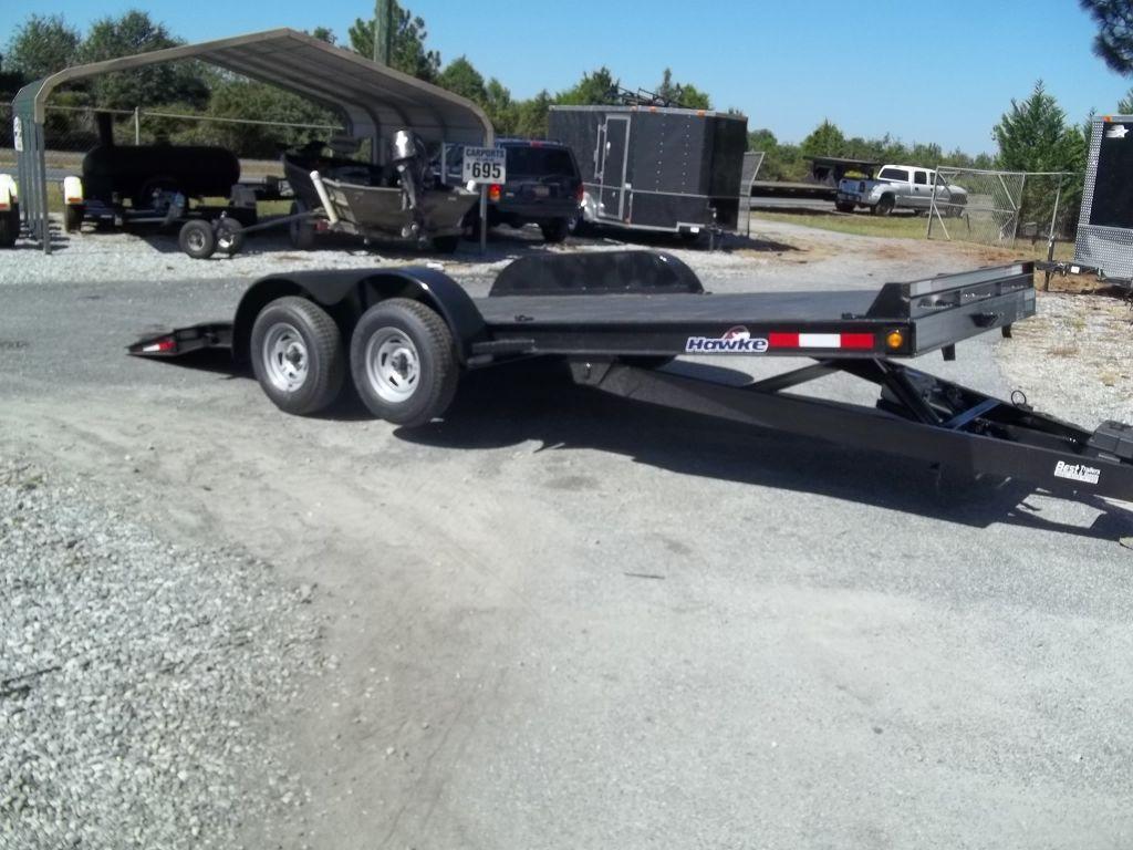 18' 7k tilt steel deck car hauler trailer powere tilt w