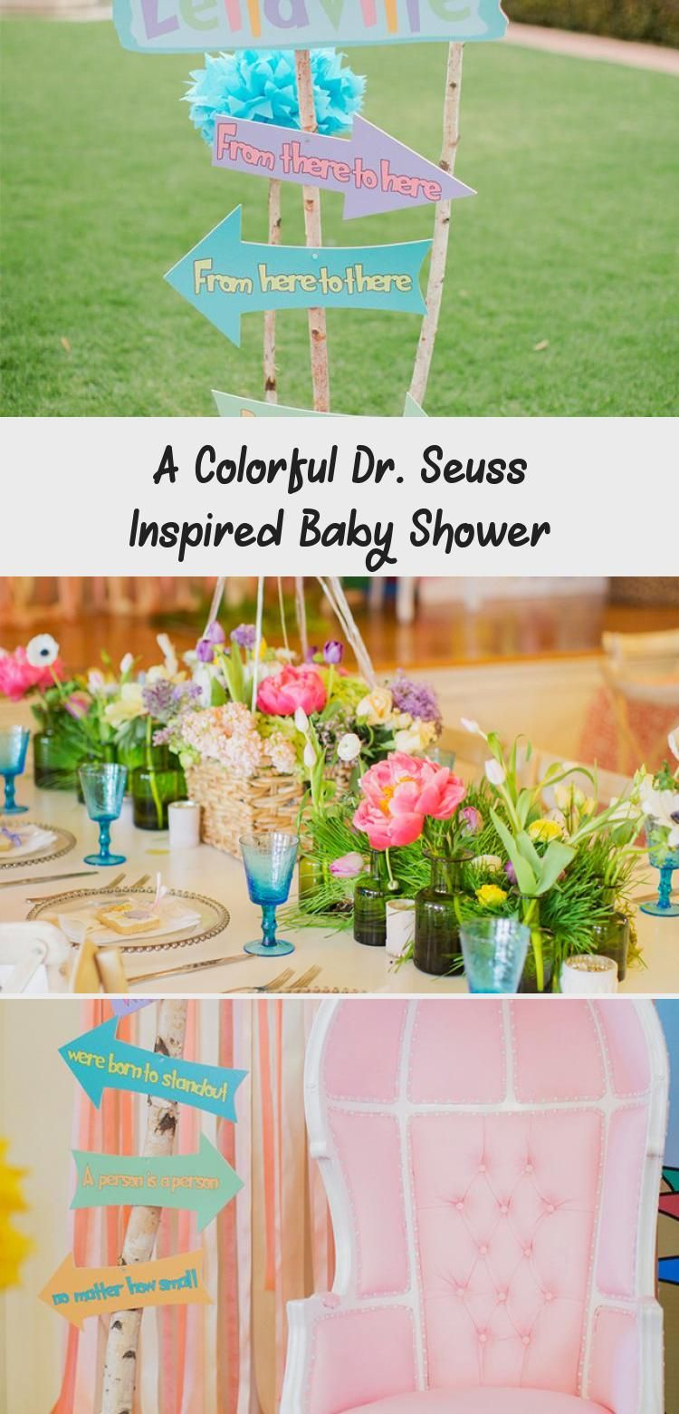 Photo of A Colorful Dr. Seuss Inspired Baby Shower – BABY