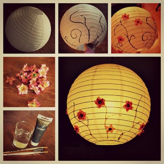 Painted Paper Lantern Idea No Link For Instructions Paper