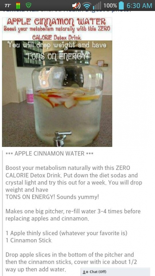 Apple Cinnamon Water Boost your metabolism naturally