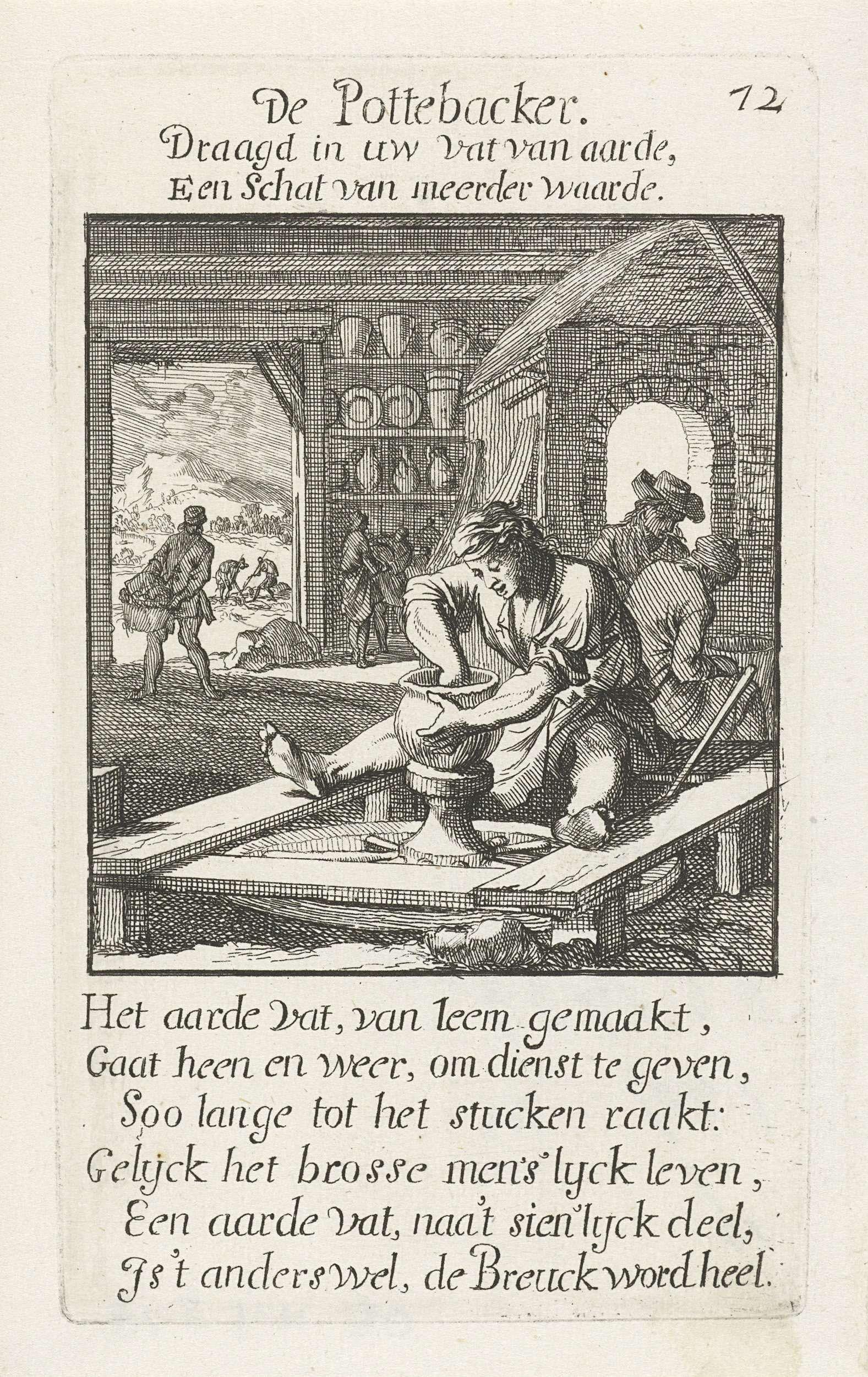 Caspar Luyken | Pottenbakker, Caspar Luyken, Jan Luyken, Jan Luyken, 1694 |