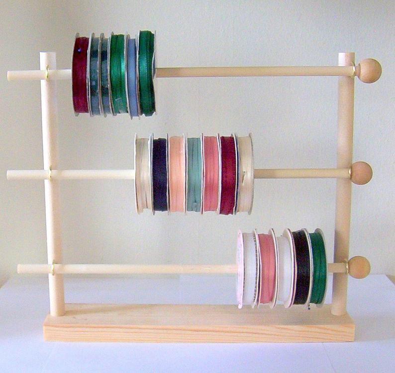 Spool Ribbon Holder Storage Rack Wire Organizer In 2020 Ribbon