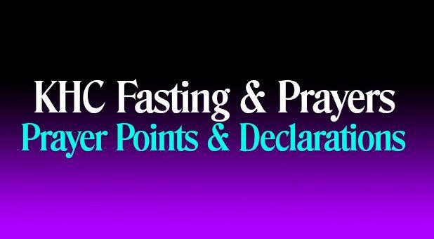 Prayer Points & Declarations