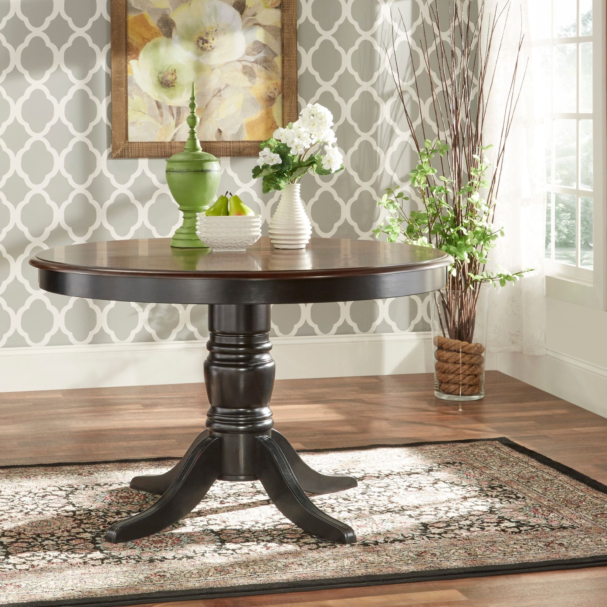 Mackenzie Country Antique Two-tone Dining Table by iNSPIRE Q Classic by  iNSPIRE Q