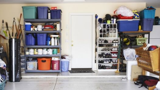 A clean storage space, garage or shed