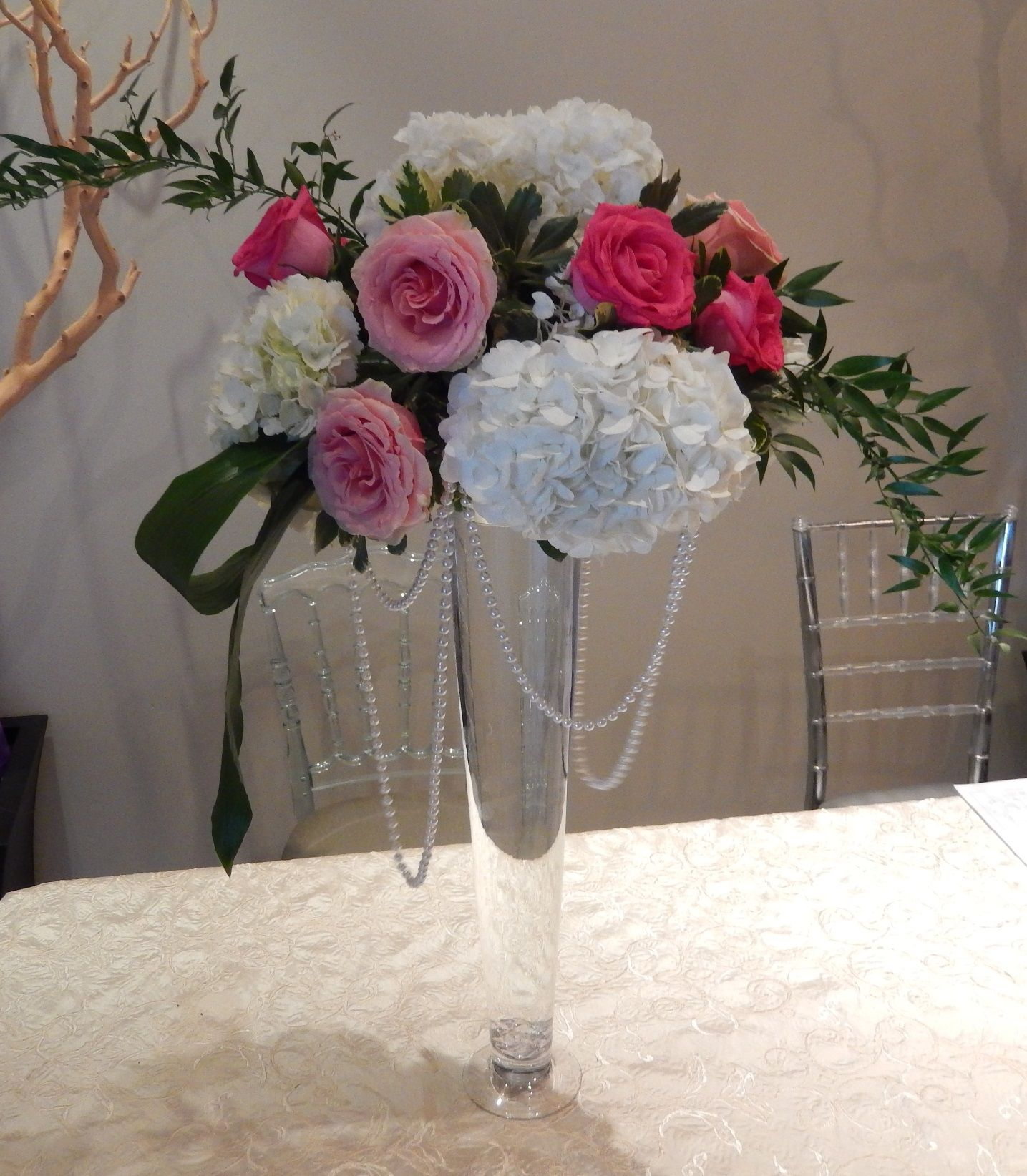 Wedding Flowers In February: Centre Piece For A February Wedding; Simple Design From