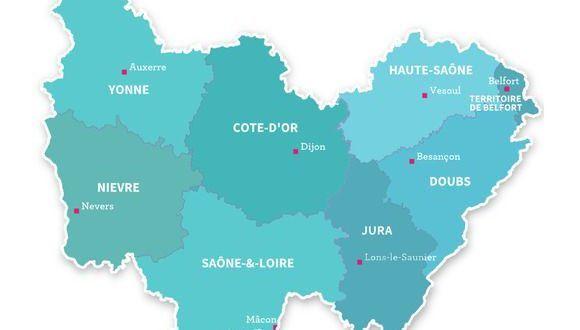 Carte De Bourgogne Franche Comte Bourgogne Franche Comte Franche Comte Haute Saone