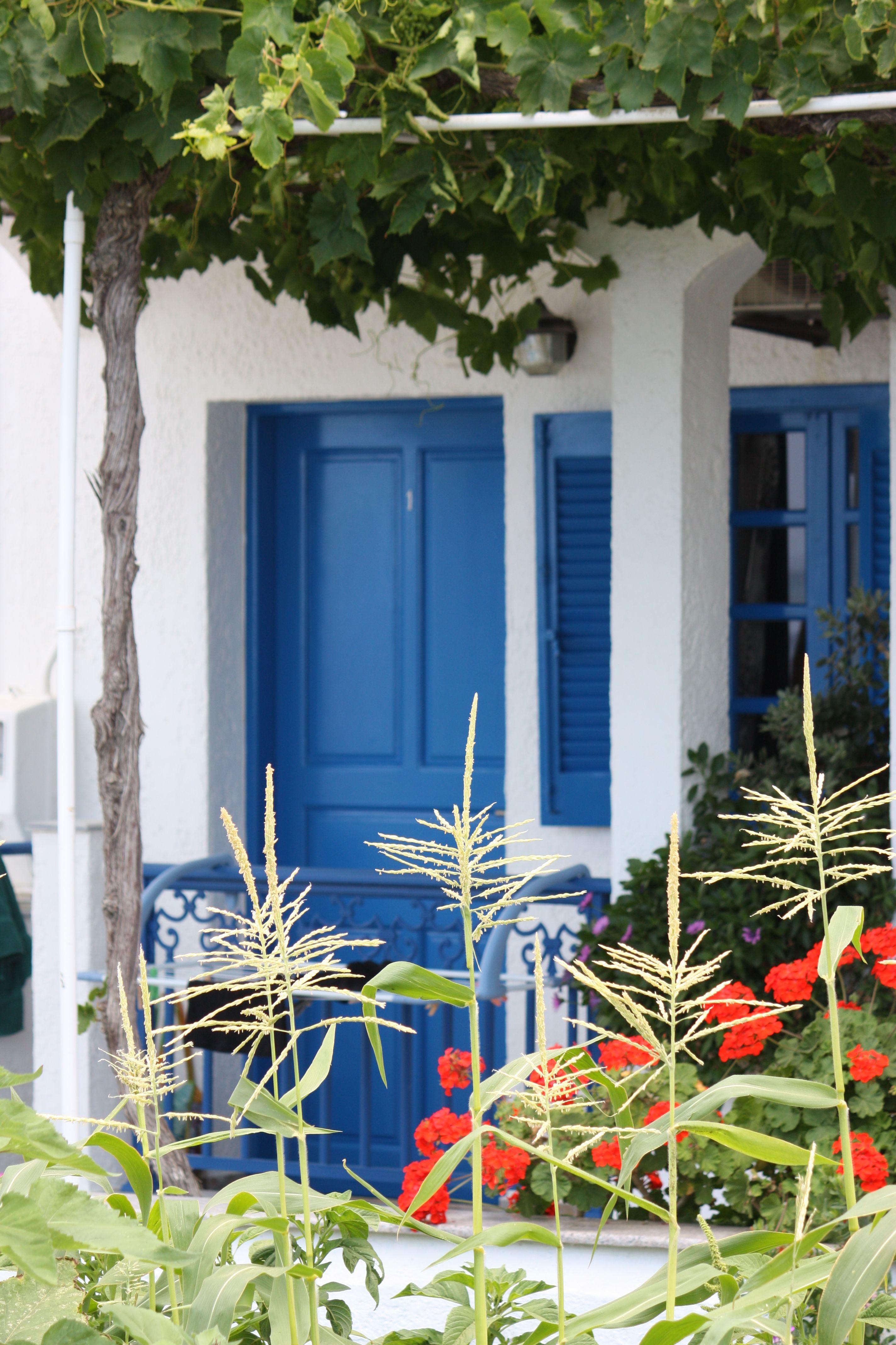 Window decor and more orange beach  blue door  makry gialoscrete doors  doors  pinterest  crete