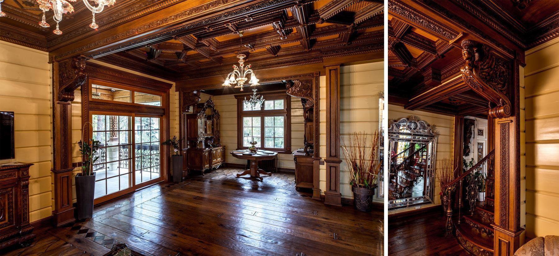 Отделка старого загородного дома внутри фото