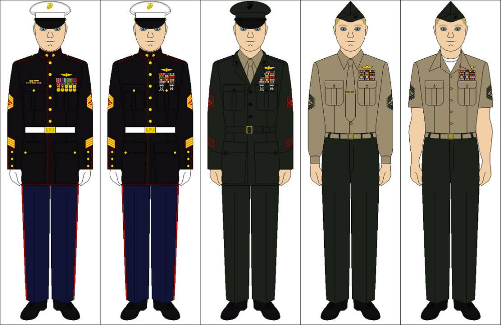 Us Marine Corps Uniforms By Tenue De Canada On Deviantart Marine Corps Uniforms Marines Uniform Military Marines