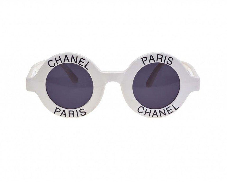 911aa9a2e001 Rare iconic vintage chanel paris logo sunglasses black round 01945 10601 in  2019 | Fashion | Chanel glasses, Chanel sunglasses, Round sunglasses