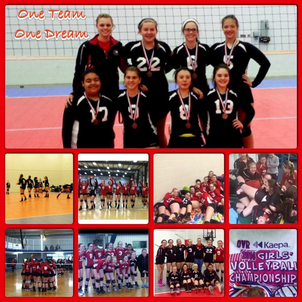 Our Volleyball Season May Be Over But We Ended It With A Boom 3rd In Gold In Our Bracket One Team Volleyball Seasons