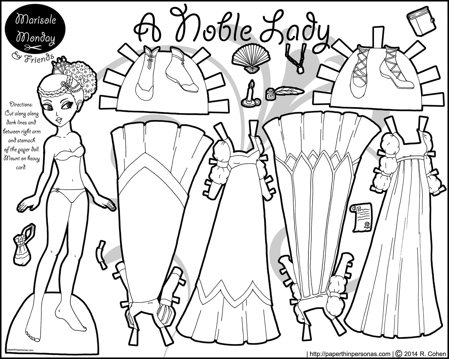Marisole Monday Paper Dolls in Black and White Click Here