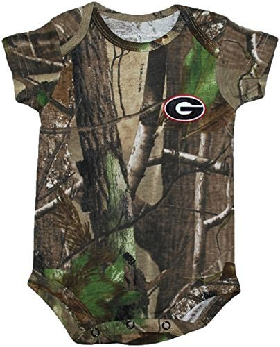 de7308651e0d8 Georgia Bulldogs NCAA College Newborn Baby RealTree Camo Camouflage Creeper  36 *** You can get additional details at the image link.