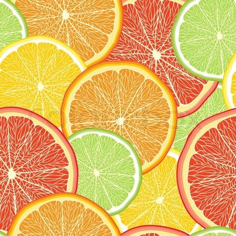 Vector Of Abstract Color Background With Citrus Fruit Of