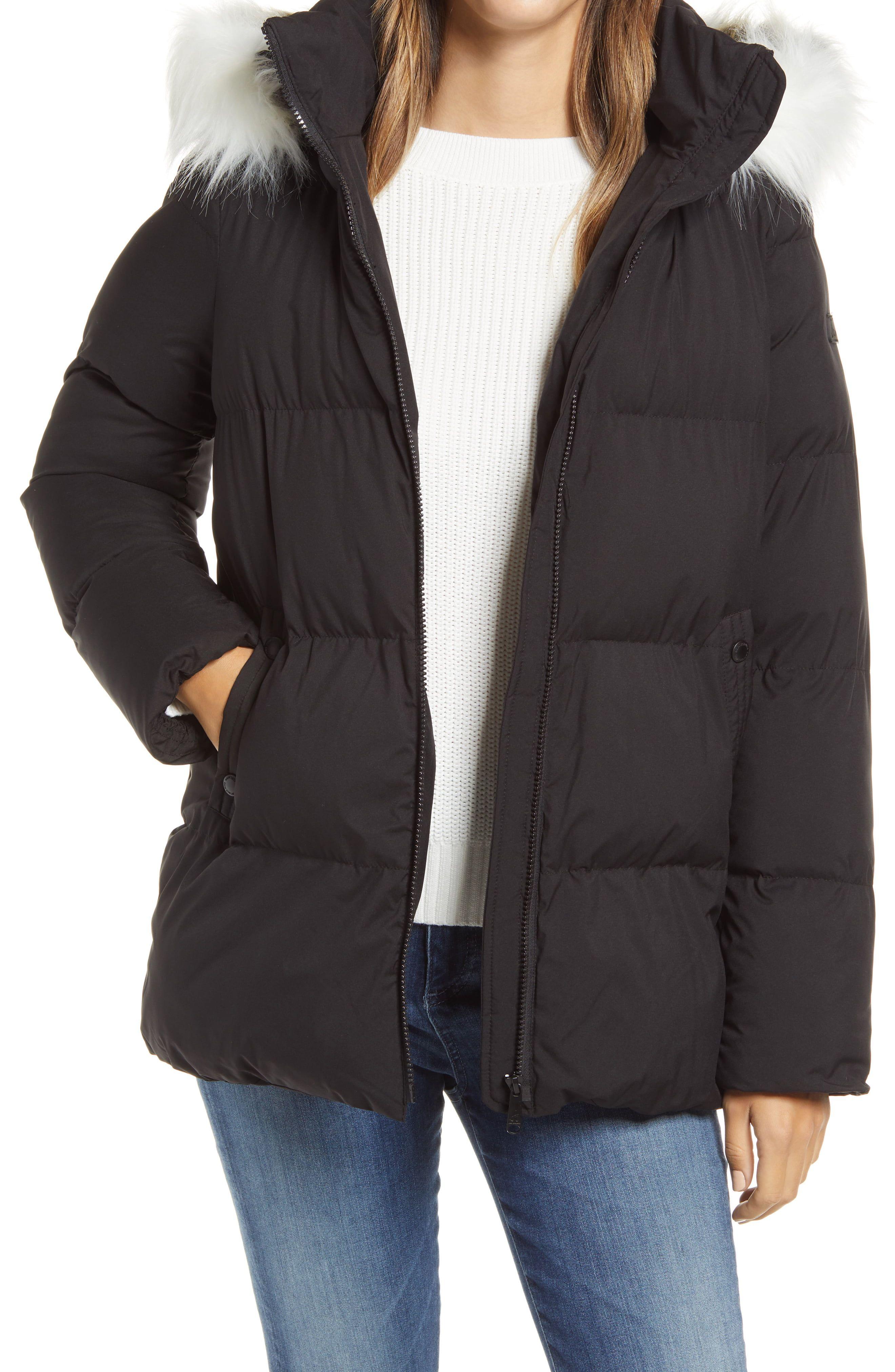 Sam Edelman Water Repellent Faux Fur Trim Puffer Jacket Nordstrom Winter Coat Warmest Fur Hood Jacket Black Puffer Jacket [ 4048 x 2640 Pixel ]