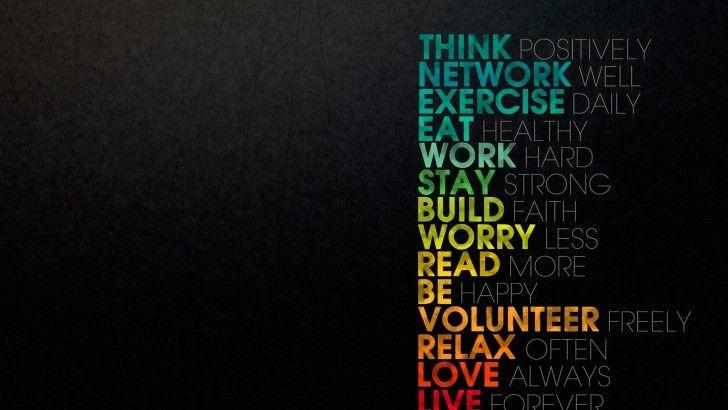 Think Positively Wallpaper Belles Citations Plus