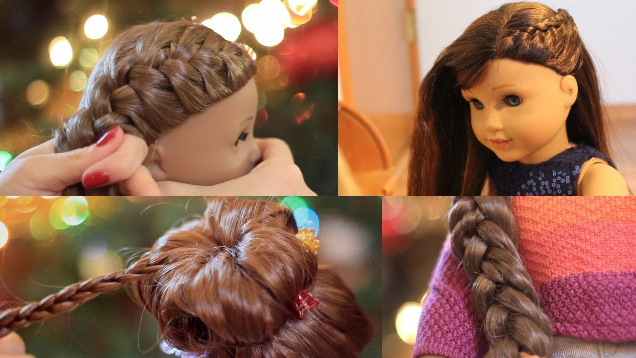 American Girl Doll Holiday Hairstyles! ❄ 12 - YouTube