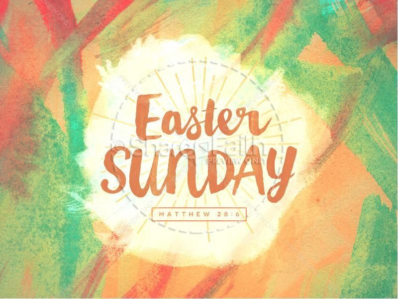 Glorify the risen Savior and celebrate His victory using this - easter powerpoint template