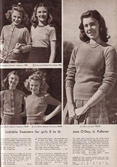 Die Damenmode Der 40er Jahre Blonde Kinder 50er Jahre Mode Und Mode