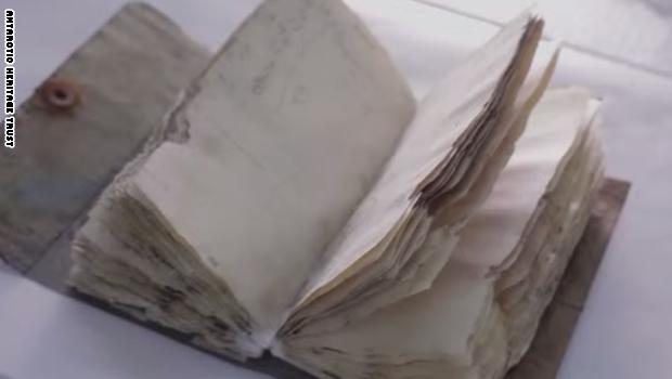 اكتشاف دفتر مذكرات عمره مائة عام بين جليد القطب المتجمد Entertaining Notebook Antarctic