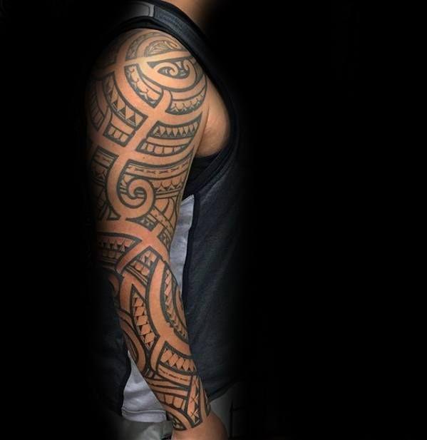 6982743a2ff3f Modern Full Arm Sleeve Male Filipino Tribal Tattoo Designs  #filipinotattoossleeve